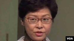 香港特首林郑月娥为邀请中共官员宣讲中共十九大文件辩护