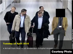 Alleged Russians hackers arrive in Amsterdam. (Netherlands Defense Ministry via U.S. Department of Justice.)