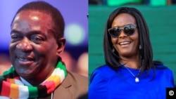 Emmerson Mnangagwa and Grace Mugabe