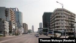 Boulebard ya 30 juin na Kinshasa, 19 décembre 2016.
