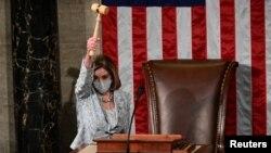 Bà Nancy Pelosi tái đắc cử Chủ tịch Hạ viện Hoa Kỳ hôm 3/1/2020.