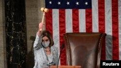 Nensi Pelosi ponovo je izabrana za predsedavajuću Predstavničkog doma na sednici 3. januara 2021.