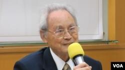 台湾戒严时期政治受难者关怀协会荣誉理事长蔡宽裕。