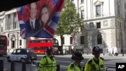 倫敦警方為威廉與凱特大婚的保安措施戒備