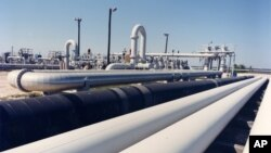 미국 텍사스주 프리포트 주변의 원유 수송관. (자료사진)