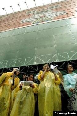 台湾学生抗议媒体垄断干预新闻自由 (蔡承允提供)