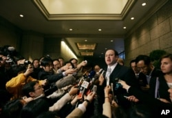 FILE - U.S. Treasury Department's Deputy Assistant Secretary Daniel Glaser speaks to reporters in Hong Kong, March 17, 2007.