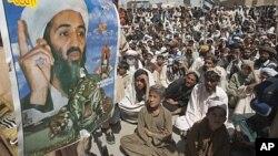 masu ra'ayin gwagwarmayar Osama Bin Laden sun yi dandazo a Quetta, kasar Pakistan.