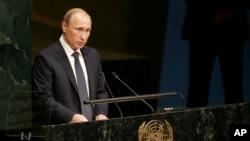 Ruski predsednik Vladimir Putin obraća se Generalnoj skupštini Ujedinjenih nacija