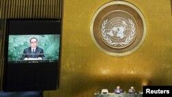 리수용 북한 외무상이 지난해 10월 제 70차 유엔 총회에서 기조연설을 하고 있다. (자료사진)
