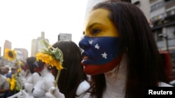 Students who support opposition political groups take part in a demonstration in Caracas Mar. 4, 2013.