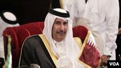 PM Qatar, Sheikh Hamad bin Jassim sebagai tuan rumah pertemuan Liga Arab di Doha (17/12).