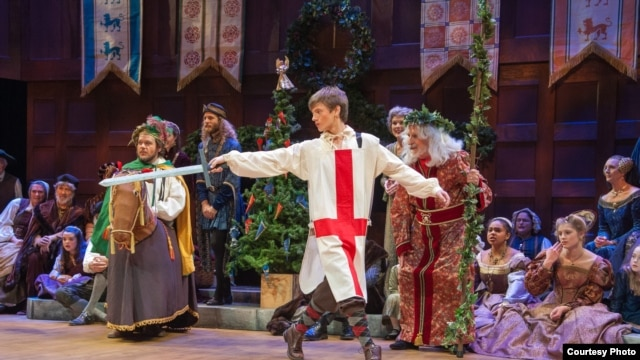 """Saint George"" in The Christmas Revels. (Sheppard Ferguson)"