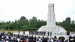 북한 평양 쑥섬혁명사적지에서 열린 6.15 남북공동선언문발표 12주년 기념대회. (자료사진)