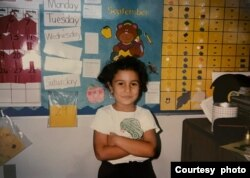 Azra Ozdemir, at the end of her first year of kindergarten in her new elementary school in Texas. (Courtesy: Azra Ozdemir)