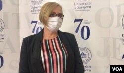 Aida Hodžić, prorektorica za nastavu i studentska pitanja UNSA
