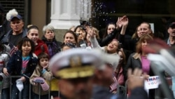 Veterans Day parade in New York last year