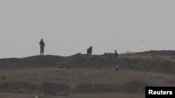 叙利亚科巴尼的伊斯兰国武装分子