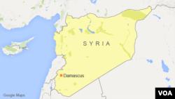 시리아 다마스쿠스 지도.