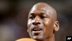 美国篮球巨星迈克尔.乔丹(资料照片)