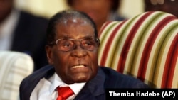 Robert Mugabe, 3 octobre 2017.