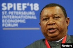 OPEC Secretary-General Mohammad Barkindo attends a session of the St. Petersburg International Economic Forum, Russia, May 25, 2018.