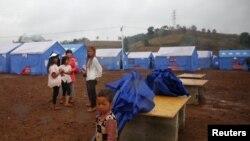 Người tị nạn Myanmar tại trại tị nạn Nansan, tỉnh Vân Nam, Trung Quốc, 12/3/2017.