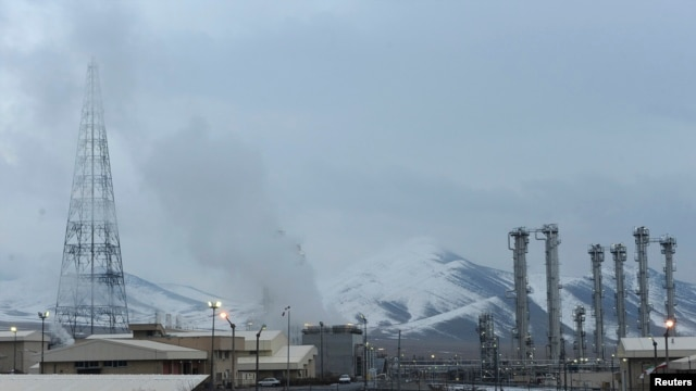 FILE - A general view of the Arak nuclear power plant, 190 km southwest of Tehran.