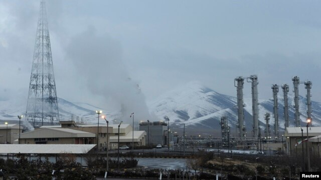 FILE - A general view of the Arak nuclear power plant, 190 km southwest of Tehran, Jan. 15, 2011. Iran has poured concrete into the core of the Arak nuclear reactor, disabling it.