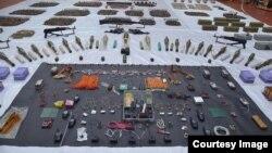 PKK'ya ait çok sayıda silah ve patlayıcı ele geçirildi