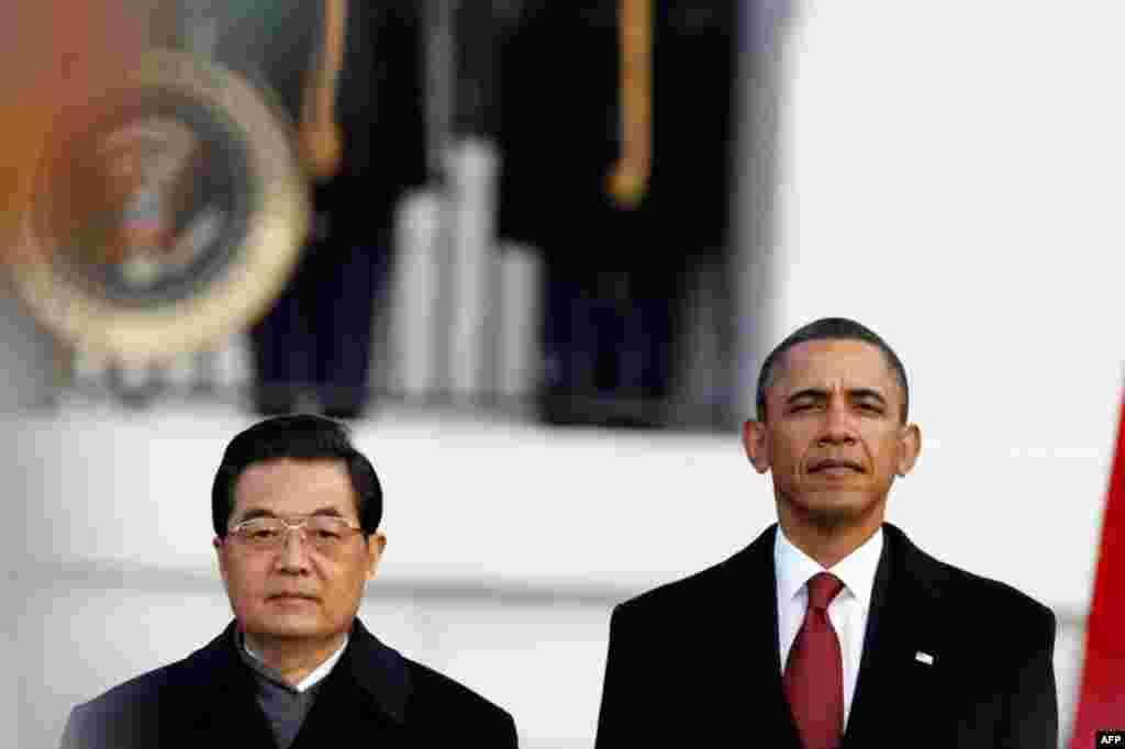 Çin Devlet Başkanı Hu Jintao ve Başkan Barack Obama