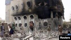 Ruševine u gradu Sada u Jemenu