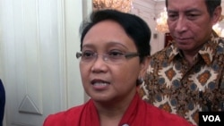 Menteri Luar Negeri Retno Lestari Marsudi. (VOA/Andylala Waluyo)