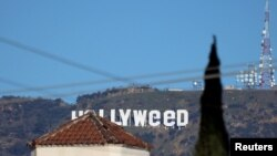 REUTERS Hollywood sign turned to Hollyweed