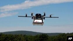 Ảnh tư liệu - Một máy bay không người lái được thử nghiệm giao hàng.