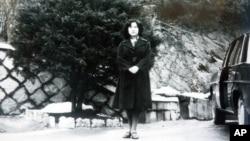 일본인 납북 피해자 요코다 메구미가 북한 모처에서 찍은 것으로 알려진 사진. (자료사진)
