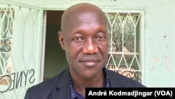 Guirayo Jérémie, président du Synecs N'Djamena, le 12 octobre 2017. (VOA/André Kodmadjingar)