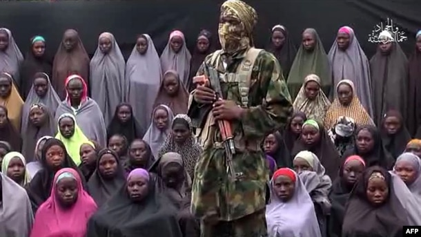 FILE - Boko Haram on Aug. 14, 2016 released a video of the girls allegedly kidnapped from Chibok in April 2014, showing some who are still alive and claiming others died in air strikes.