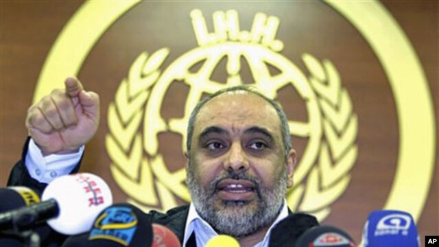 Bulent Yildirim, the president of the IHH, the Turkish Islamic aid group that organized a Gaza-bound flotilla last May, speaks to the media in Istanbul, Turkey, Jan. 24, 2011 (file photo)