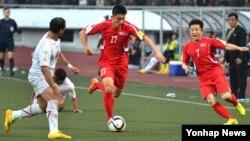 13일 평양 김일성경기장에서 2018 러시아 월드컵 아시아지역 2차 예선 북한 대 예멘의 경기가 열리고 있다. 북한이 1-0 으로 승리했다.