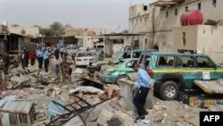 Iračke snage bezbednosti na mestu napada u Hili
