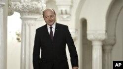 Presiden Rumania, Traian Basescu (Foto: dok). Koalisi anggota parlemen berupaya untuk mendongkel Basescu dari jabatannya sebagai presiden Rumania.