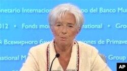 19일 기자회견을 가진 크리스틴 라가르드 IMF 총재.