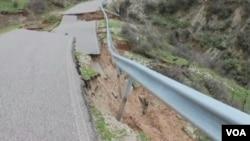 Albania, land slide