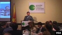 Премиерот на Република Македонија Никола Груевски на бизнис-форумот во Мајами во 2012-та
