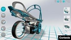 Rollkers es una especie de patines para transportarnos hasta a 7 millas por hora (11 kilómetros).