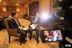 Thai PM Prayuth Chan-ocha speaks with VOA in Washington, DC, March. 31, 2016.