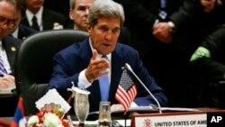 Ngoại trưởng Hoa Kỳ John Kerry phát biểu tại hội nghị ASEAN, ở Brunei, 9/10/13
