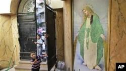 埃及亚历山大城一个基督教堂的入口