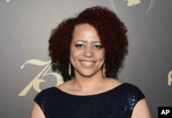 FILE - In this Saturday, May 21, 2016, file photo, Nikole Hannah-Jones attends the 75th Annual Peabody Awards Ceremony at Cipriani Wall Street in New York. Proposals in Arkansas, Iowa and Mississippi would prohibit schools from using the New York Times' ""